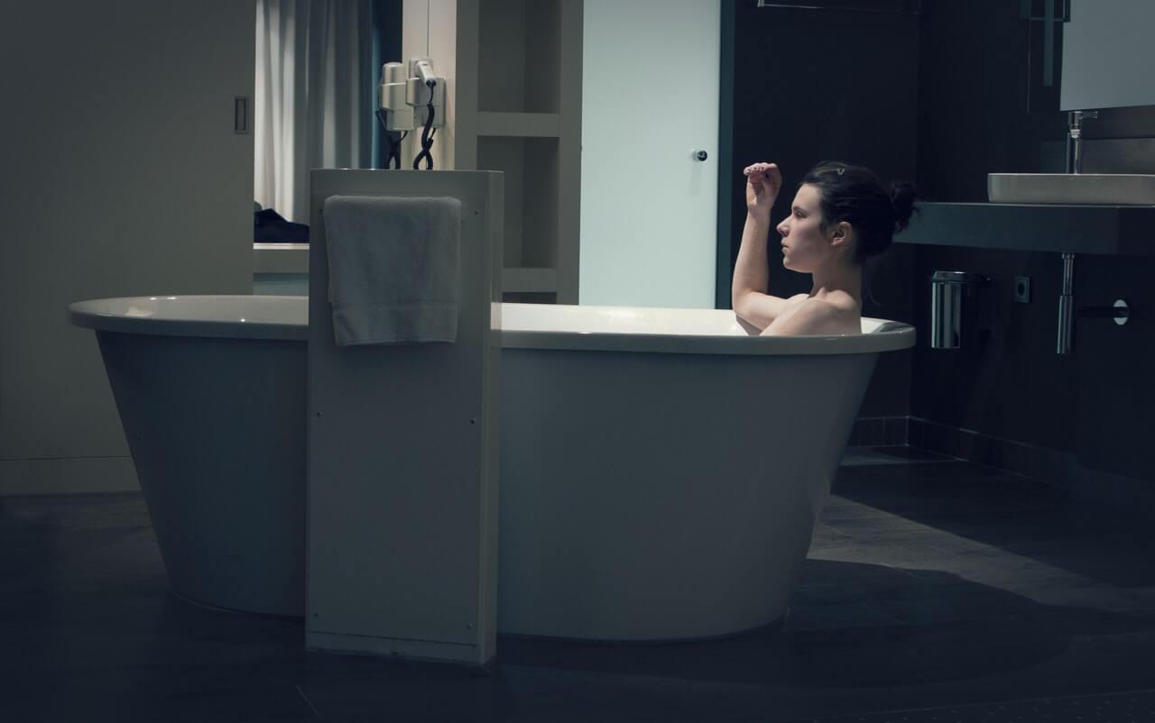 woman in bath